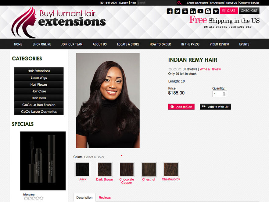 Human Hair Extensions Web Design Web Design For Hair Extensions