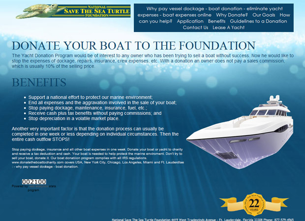 Donate the boat to charity